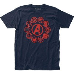 Avengers: End Game - Mens Icons Fitted Jersey T-Shirt