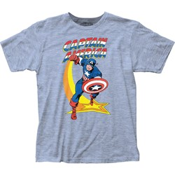 Captain America - Mens Star Punch Fitted Jersey T-Shirt