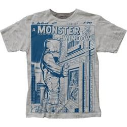 Monster At My Window - Mens Big Print Subway T-Shirt