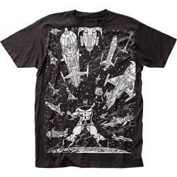 Thanos - Mens Spaceships Big Print Subway T-Shirt