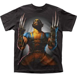 Wolverine - Mens Claws Drawn Big Print Subway T-Shirt