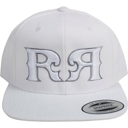 Rock Revival - Mens Double R White Fill Snapback Hat