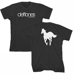 Deftones - Mens White Pony T-Shirt