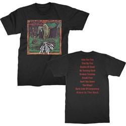 Satan - Mens Court In The Act Album T-Shirt