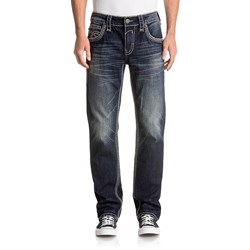 Rock Revival - Mens Bolton J205 Straight Jeans With Flap
