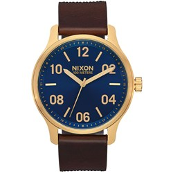 Nixon - Men's Patrol Leather Analog Watch