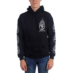 Bad Religion - Mens Flaming Crossbuster Pullover Hoodie