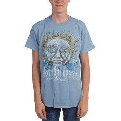 Sublime - Blue Mens Sun Adult T-shirt In Stone Blue