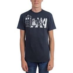 Dr. Who - Mens Street Crossing T-Shirt in Black