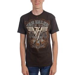 Van Halen - Rock N Roll Adult T-shirt In Chocolate