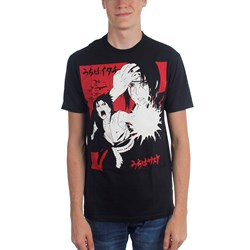 Naruto - Mens Naruto Ship Itachi & Sasuke 2 Color Kanji T-Shirt