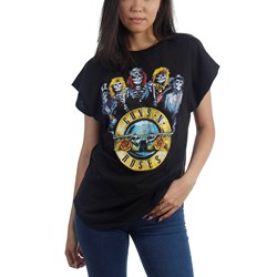 Guns N Roses - Womens Band Bullet T-Shirt