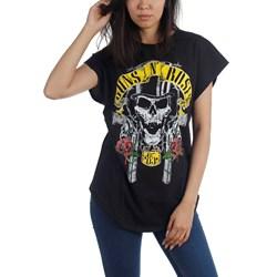 Guns N Roses - Womens Skull T-Shirt