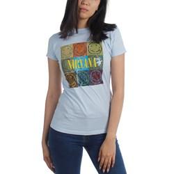 Nirvana - Smile Box Jr Women's T-Shirt in Lt Blue