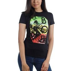 Bob Marley - Womens Concert Rasta Stripe T-Shirt