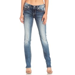 Miss Me - Womens Mid-Rise M5014T318 Straight Jeans