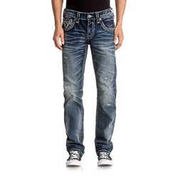 Rock Revival - Mens Thao J202 Straight Jeans With Fake Flaps