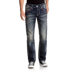 Rock Revival - Mens Fermin A205 Alternative Straight With Fake Flaps