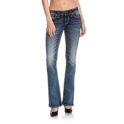 Rock Revival - Womens Silken B205 Bootcut Jeans With Fake Flaps