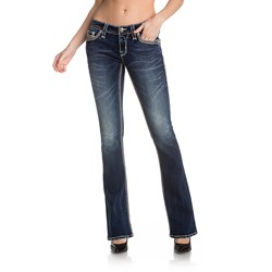 Rock Revival - Womens Kiley B204 Bootcut Jeans With Fake Flaps