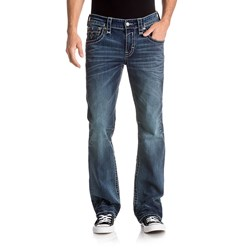 Rock Revival - Mens Raith B204 Bootcut Jeans With Fake Flap