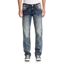 Rock Revival - Mens Salim J202 Straight Jeans With Fake Flap
