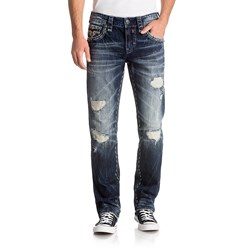 Rock Revival - Mens Alger J207 Straight Jeans With Fake Flap