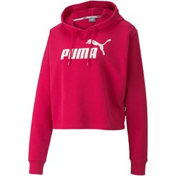 PUMA - Womens Ess+ Logo Cropped Hoody
