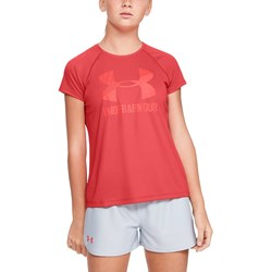 Under Armour - Girls Big Logo Solid SS T-Shirt