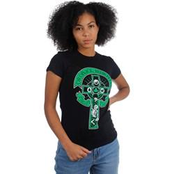 Dropkick Murphys - Womens Skeleton Drinking Cross T-Shirt