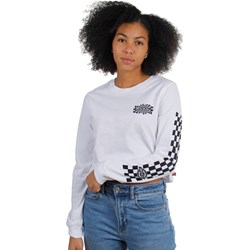 Dickies Girl - Swirl Check Cropped Long Sleeve T-Shirt