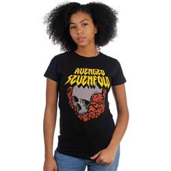 Avenged Sevenfold - Womens Skull And Roses T-Shirt