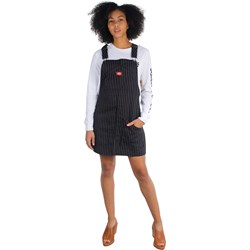 Dickies Girl - Pinstripe Overall Dress