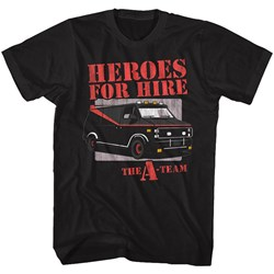 A-Team - Mens Heroes For Hire T-Shirt