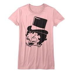 Betty Boop - Womens Dapper Boop T-Shirt in Light Pink
