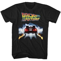 Back To The Future - Mens Tail Lights T-Shirt
