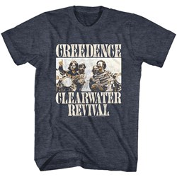 Creedence Clearwater Revival - Mens Bikes Photo T-Shirt