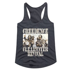 Creedence Clearwater Revival - Womens Bikes Photo Racerback Top