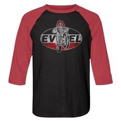 Evel Knievel - Mens Evel Badge Baseball Tee