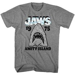 Jaws - Mens Gray White T-Shirt