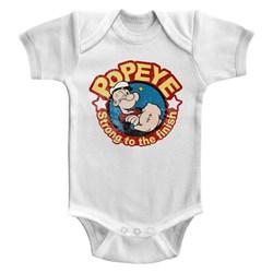 Popeye - Unisex-Baby Strong Onesie