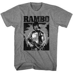 Rambo - Mens Black & White T-Shirt