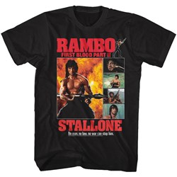 Rambo - Mens Part Ii Collage T-Shirt