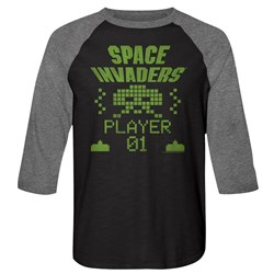 Space Invaders - Mens Player 01 Baseball Tee