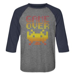 Space Invaders - Mens Game Over Baseball Tee