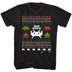 Space Invaders - Mens Space Xmas T-Shirt
