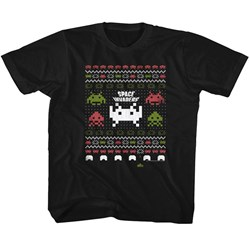 Space Invaders - Unisex-Child Space Xmas T-Shirt