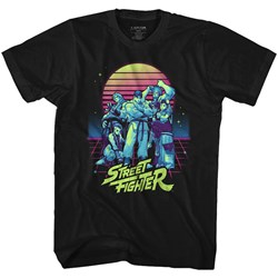 Street Fighter - Mens Synthwave Fighter T-Shirt