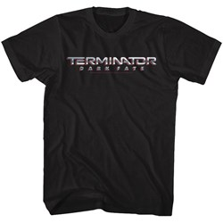 Terminator Dark Fate - Mens Dark Fate Chrome Logo T-Shirt
