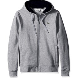 Lacoste Mens Sport Full Zip Hoodie Fleece Sweatshirt
